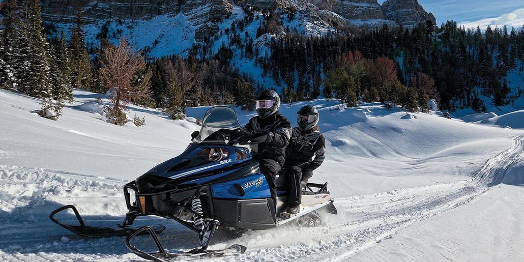 Покатушки на утилитарных снегоходах